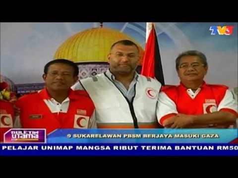 Sukarelawan PBSM Malaysia Tiba Di Gaza, Palestin