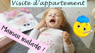 Visite d'appartement et Maman malade - Vlog de maman