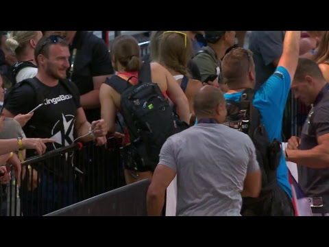 2018 Crossfit Games Age Group Complex Fran Youtube