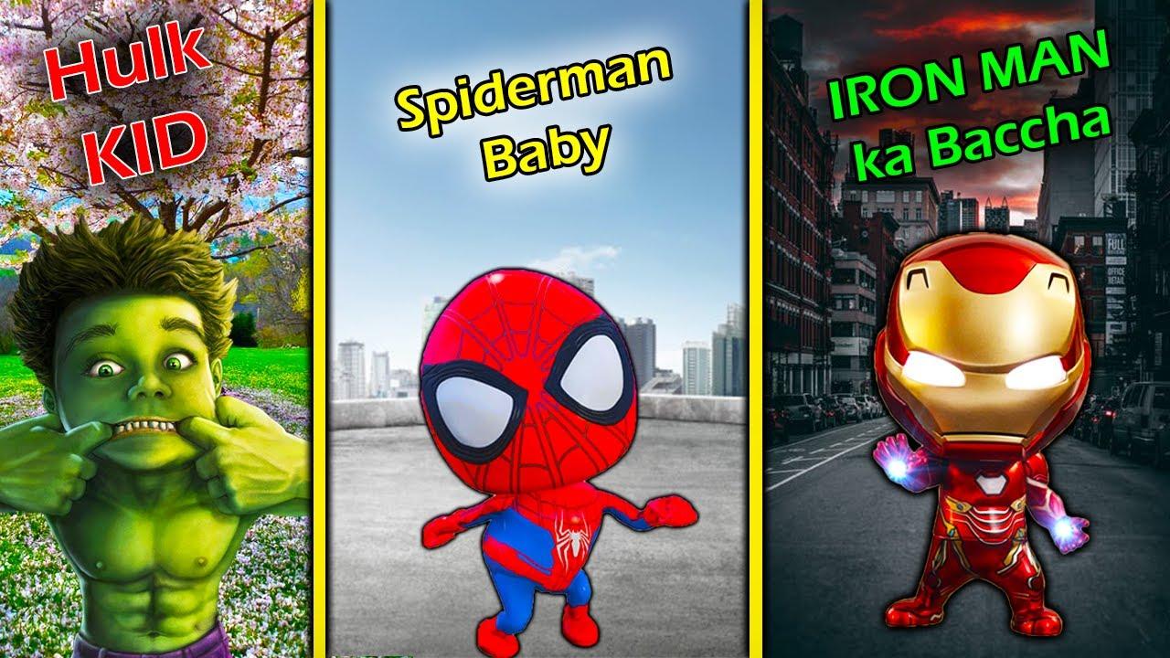 SHINCHAN Test POWERS of SUPERHERO KIDS in GTA 5 || iron man , spiderman , hulk Child