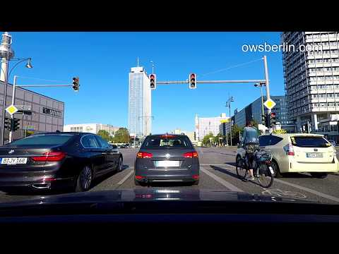Авто прогулка по Берлину / Driving in Berlin 2017: Strausberger Platz - Prenzlauer Promenade