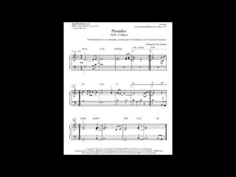 Paradise By Coldplay Sheet Music