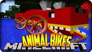Minecraft Mods - RACING ENDERDRAGONS & CHOCOBOS?? - (Animal Bikes) Mod Showcase