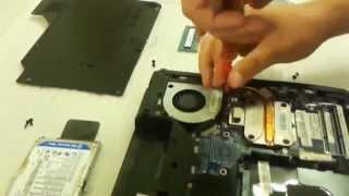 Jak rozebrat Lenovo G560, vyměnit paměti, pevný disk, vyčištění větráku