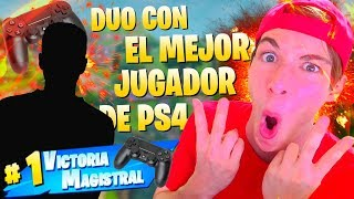 Video de DUO con EL MEJOR JUGADOR de PS4 *IMPRESIONANTE* FORTNITE Battle Royale
