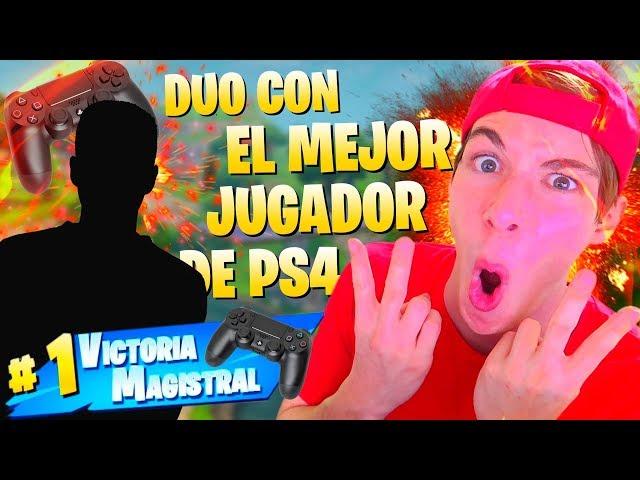 DUO con EL MEJOR JUGADOR de PS4 *IMPRESIONANTE* FORTNITE Battle Royale