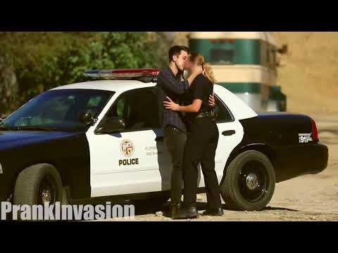 Kissing Prank Cops Edition Prank Invasion 2017