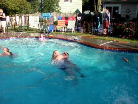 Lisa Sullivan Getting Pushed in the Pool