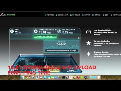 TalkTalk ADSL2+ vs VDSL2 FTTC Fibre Speed test