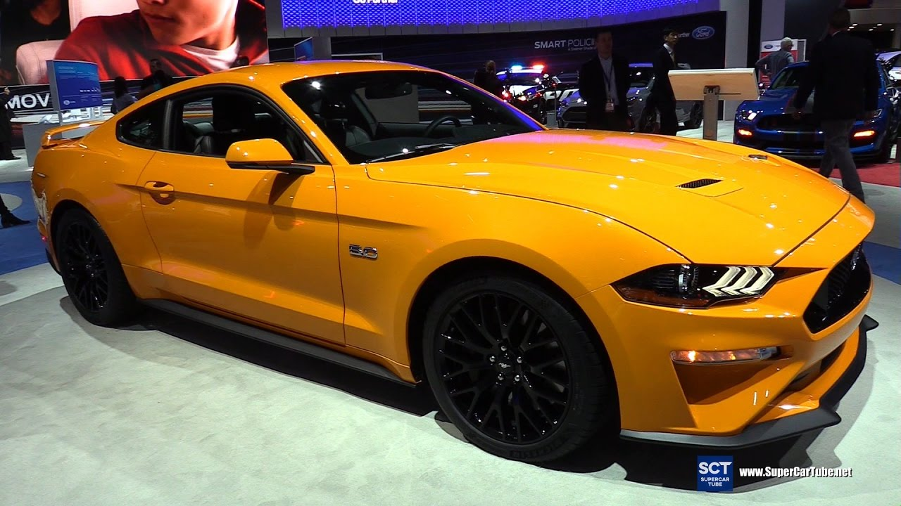 2018 ford mustang gt exterior and interior walkaround 2017 new york auto show