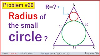 can you solve for the radius of the small circle?