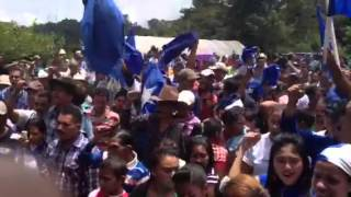 Himno del Partido Nacional, cantado en la montaña el Chile,