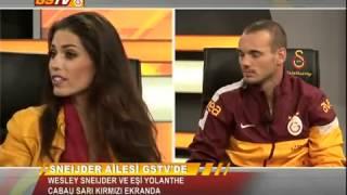Wesley Sneijder ve eşi Yolanthe Cabau GSTV'ye konuk oldu 22.01.2013