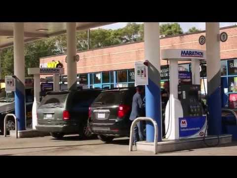 How can a gas station with a convenience store save energy and money?