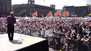 Palabras de AMLO en el Zocalo. 26 de octubre del 2014