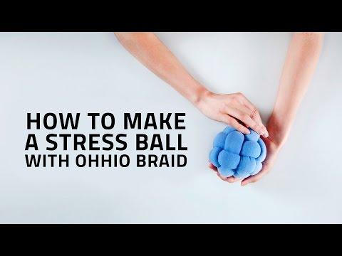 HOW TO MAKE A CHUNKY STRESS BALL USING OHHIO BRAID