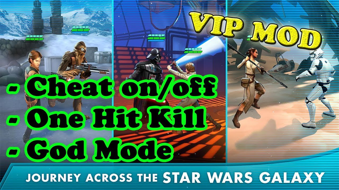 Star Wars™: Galaxy of Heroes Ver. 0.18.502441 MOD APK | God Mode | One Hit Kill | Cheat on/off |  #Smartphone #Android