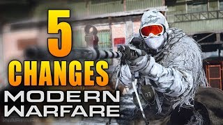 Modern Warfare: 5 New Changes in Today's Update