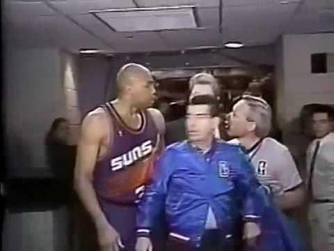 1993: Shaq breaks basket, Barkley breaks Shaq, KJ gets revenge dunk