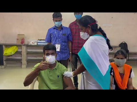 Download Actor Soori & his wife take 1st COVID vaccine jab today