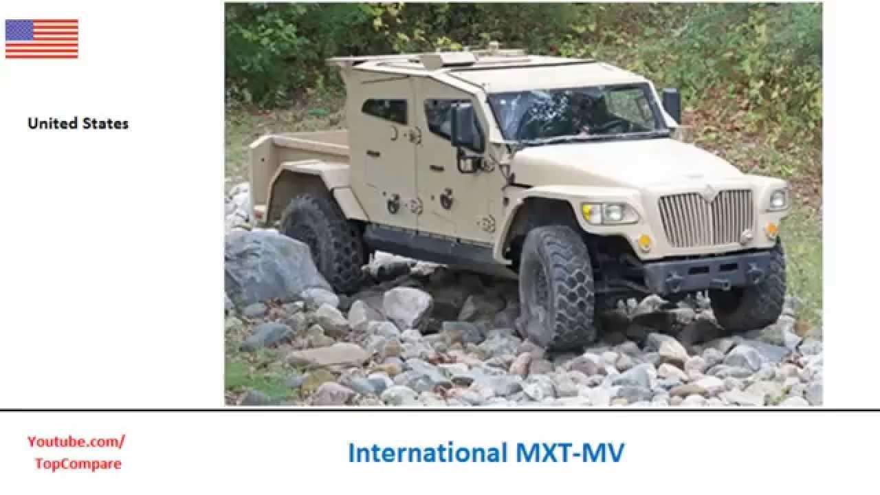 International MXT-MV versus Bravia Chaimite, four-wheeled personnel ...