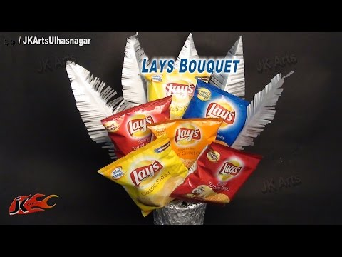 DIY Lay's Chips Bouquet | How to make | JK Arts 634