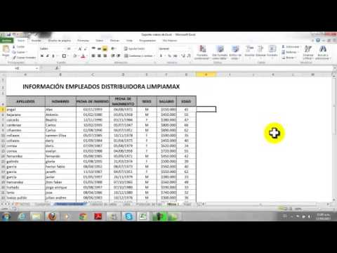 Pasar a Mayuscula excel 2010 - YouTube