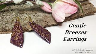 Gentle Breezes Earrings-Polymer Clay Tutorial