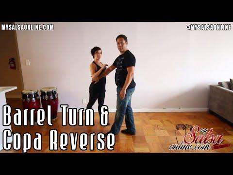 Salsa Advanced Turn Pattern Combination - Barrel Turn & Copa Reverse
