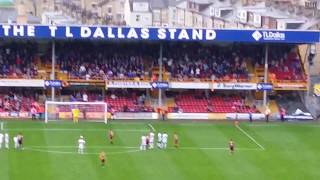 Bradford City Vs Oldham Athletic Billy Clarke Penalty!