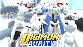 Digimon Aurity - Digivolving to YukiOmnimon!! - *NEW DIGIVOLUTION* (Roblox Gameplay)