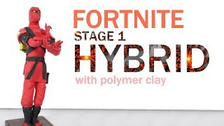 [Fortnite battle royale] Hybrid stage 1 skin season 8 - Plolymer Clay tutorial