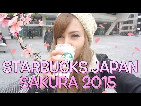 Starbucks Japan: Sakura (Cherry Blossom) Drinks for Spring 2015! スタバの桜ラテ飲んでみた!
