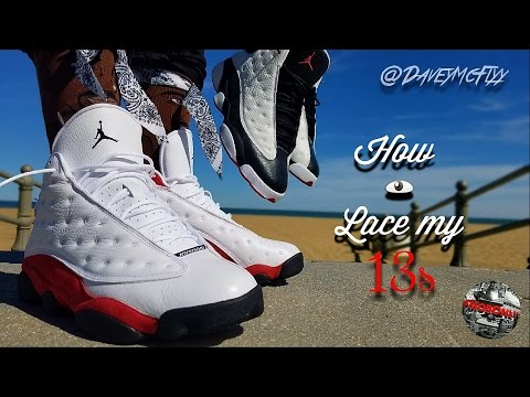 41811c466e9 How I lace my Air Jordan 13   On Foot - YouTube