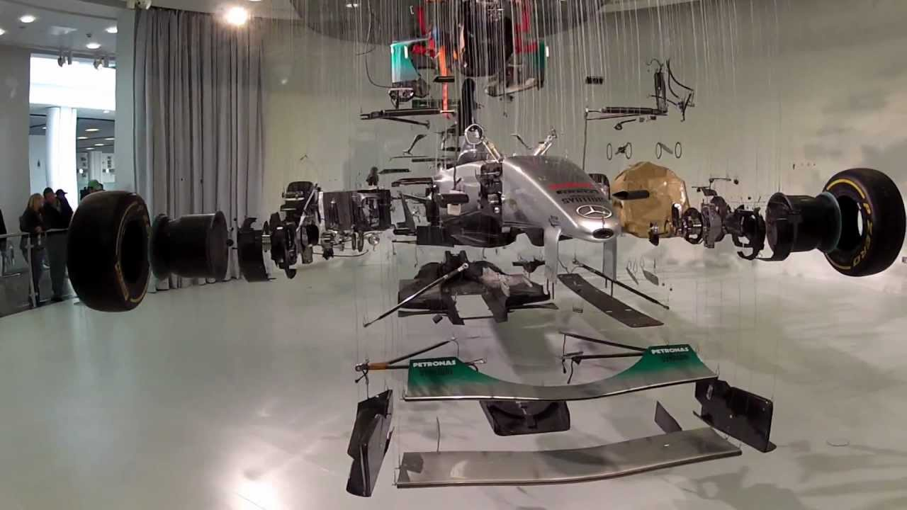 Auto Italia Mercedes Benz World  Formula 1 Exploded View Art Installation May 2012