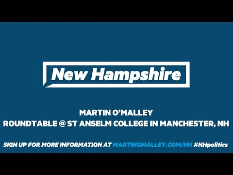 Martin O'Malley hosts roundtable in New Hampshire on debt-free college