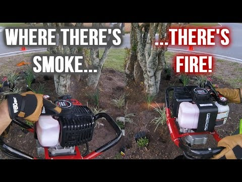 NEW Harbor Freight Auger Catches Fire! - YouTube