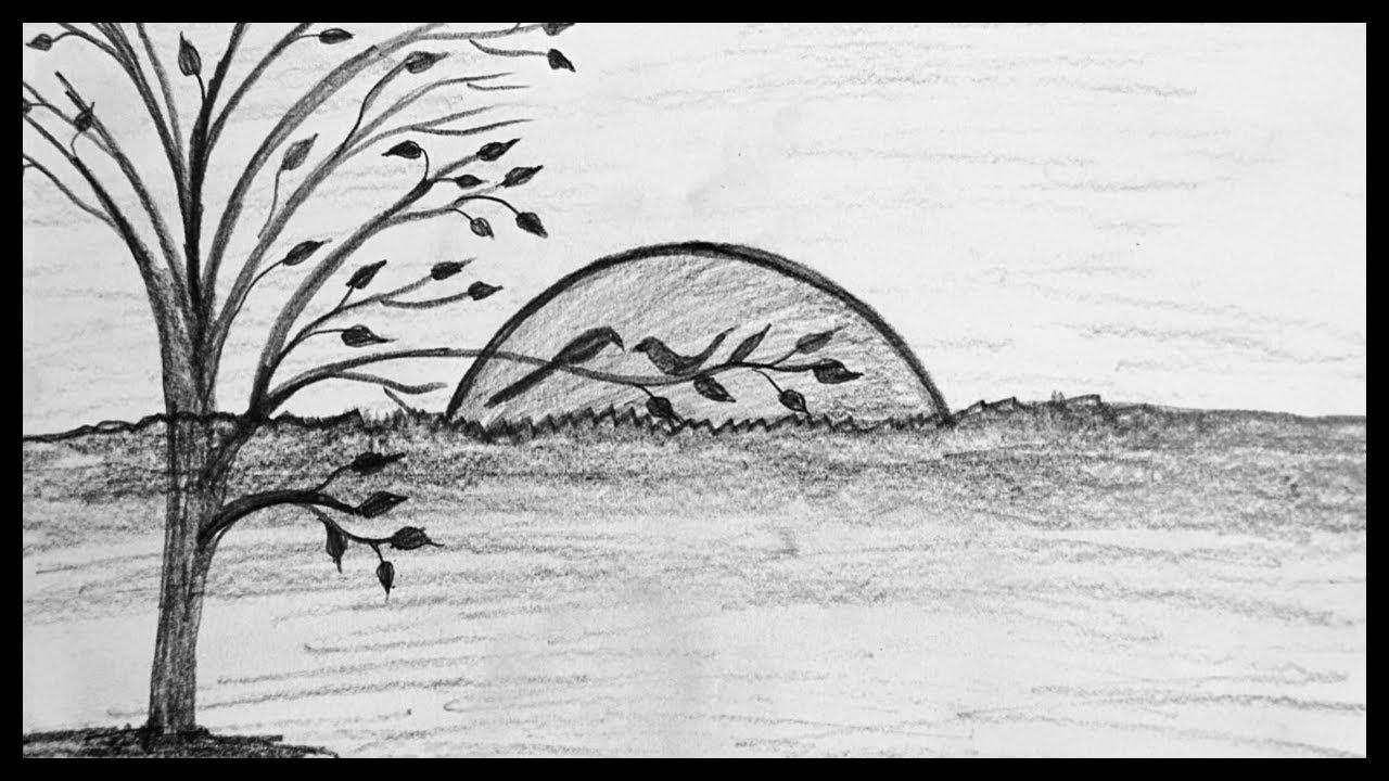 Shading Drawing Scenery Pencil Sketch Drawing Scenery Drawing Pencil Sketching Youtube