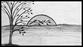 shading pencil scenery drawing sketch sketching
