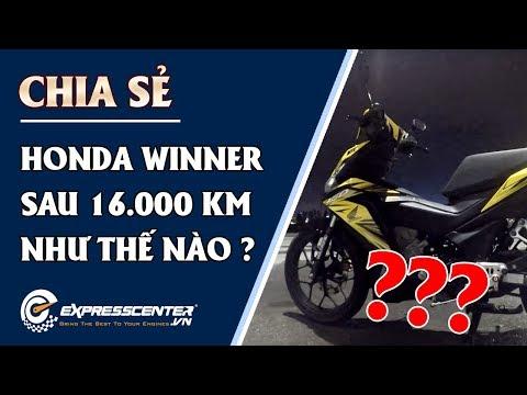 Chia sẻ chi tiết của một biker về Honda Winner sau 16,000km