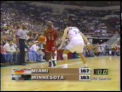 Classic NBA: Miami Heat vs. Minnesota Timberwolves (March 23rd, 1997)