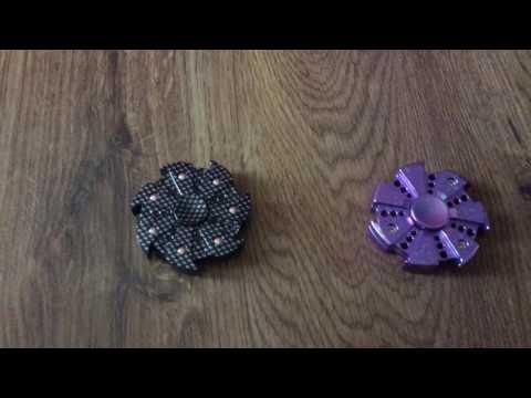 Fidget Spinner Collection Review Plastic Ninja Star Spinner Hydro Dipped Vs Metal Ninja Star Spinner
