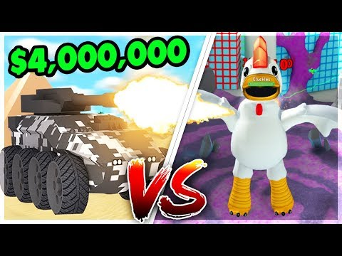BUYING THE RHINO TANK TO DEFEAT THE CHICKEN BOSS (4 Million Cash) | Roblox: Mad City Update
