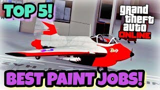 TOP 5 AWESOME PAINT JOBS FOR THE NEW LF - 22 STARLING! {CINEMATIC}(SMUGGLERS RUN DLC ) GTA V ONLINE