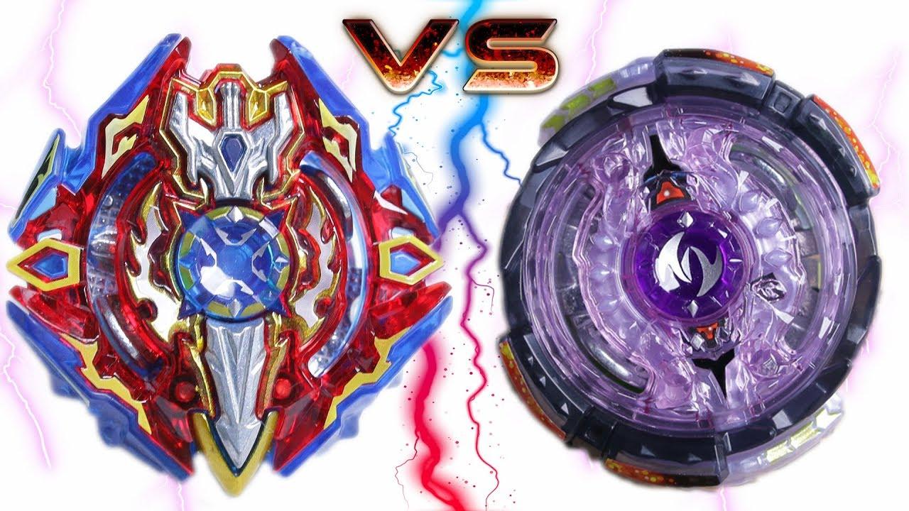 Sieg xcalibur vs twin nemesis beyblade burst battle youtube - Toupie beyblade nemesis ...
