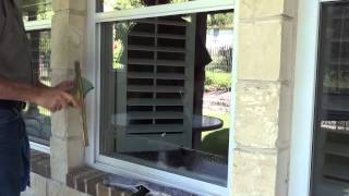 How to clean a window on your home.