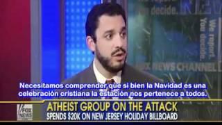Billboard Contra el Mito de la Navidad. David Silverman Presidente de Ateos Estadounidenses.