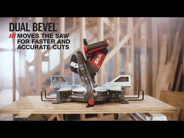 "10"" dual bevel sliding miter saw informational video"