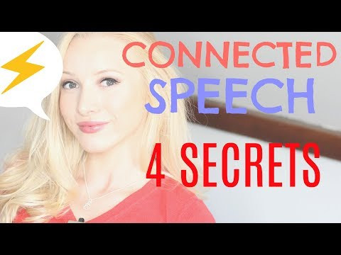 The 4 Secrets to Speaking Quickly & Fluently - CONNECTED SPEECH #spon