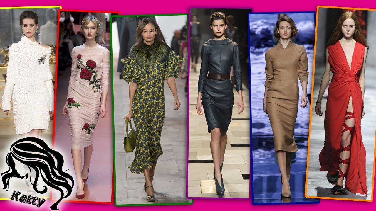 98ec1f5cb15c Модные платья Осень-Зима 2015-2016. Модная подборка от Katty - YouTube